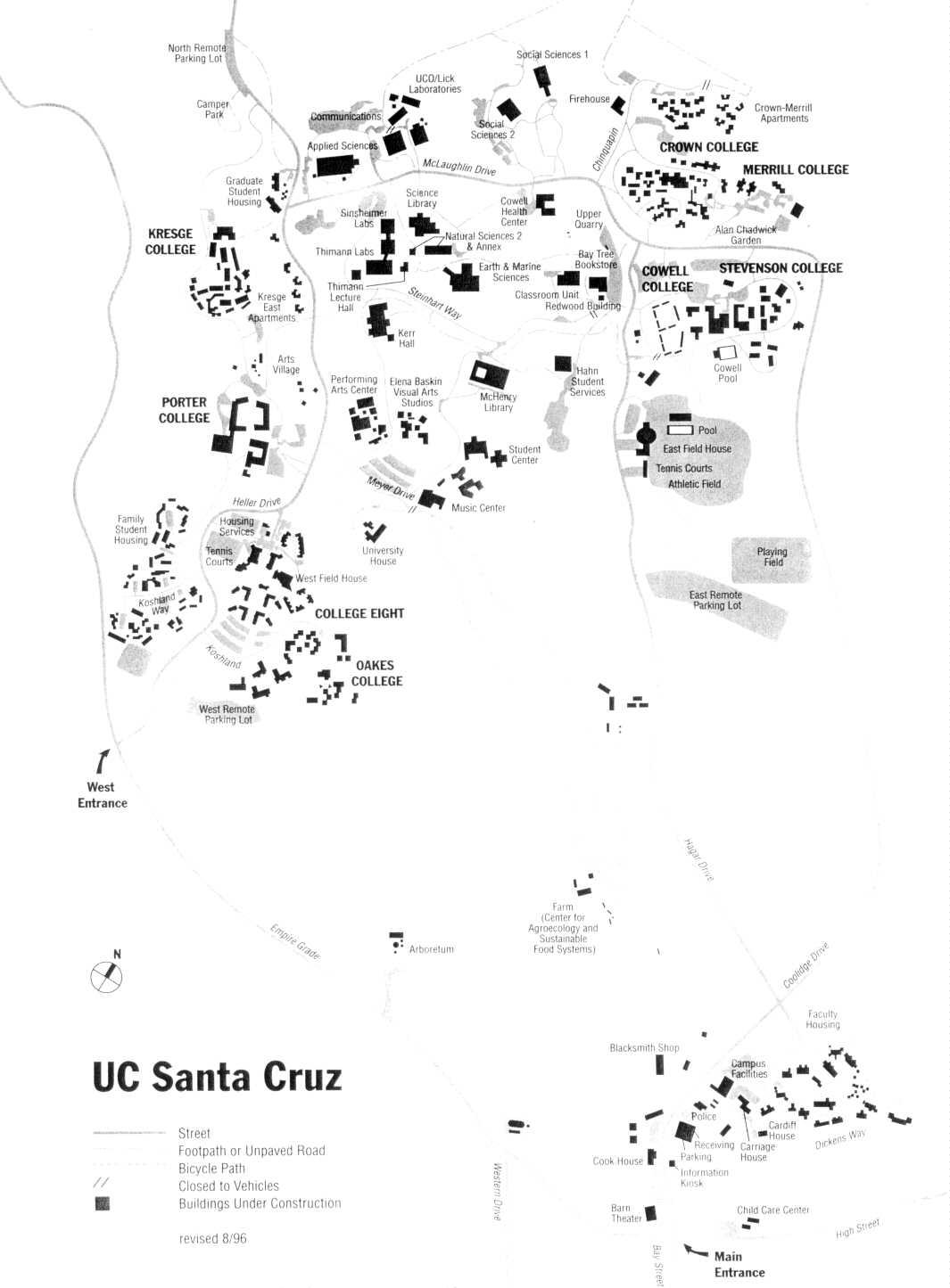 santa cruz university map Ucsc Map santa cruz university map